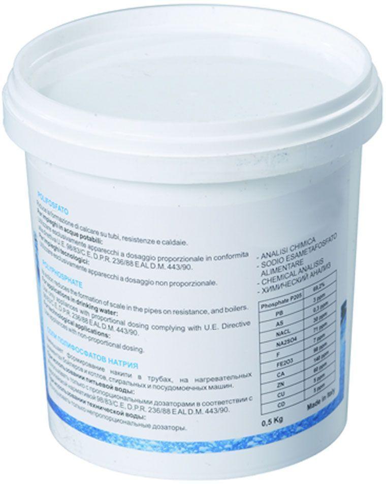 Соль полифосфатная Unicorn CP 05, 500 гИС.230069Кристаллы полифосфата предназначены для предотвращения образовании накипи. Используются в фильтрах для стиральных и посудомоечных машин, предотвращают образование накипи в водопроводных трубах, котлах и бойлерах.