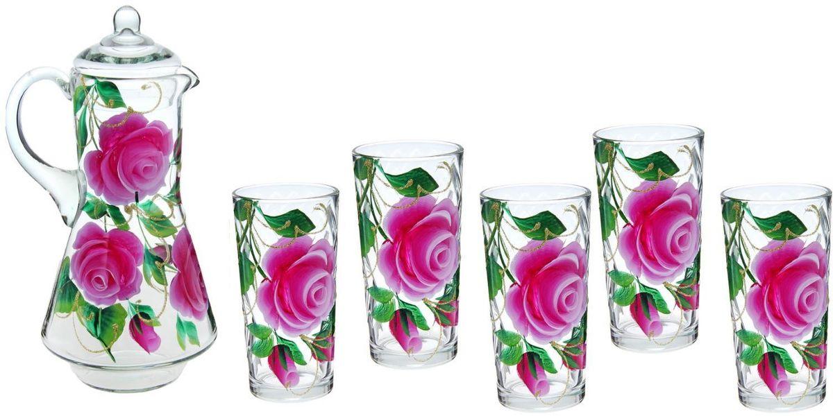 Набор Хрустальный звон: стакан Ода, 200 мл, 6 шт + кувшин, 1,2 л. 1193712VT-1520(SR)Возможно ли сделать так, чтобы в доме всегда царила по-настоящему летняя атмосфера?Набор питьевой Яркие тюльпаны, 7 предметов: кувшин 1,2 л, 6 стаканов 200 мл поможет вам приблизиться к заветной мечте!Высококачественное прозрачное стекло, нежные оттенки и изящный рисунок преобразят окружающее пространство, а утолять жажду станет ещё приятнее!Кроме того, стеклянная посуда обладает рядом практических достоинств: термостойкостью, экологичностью и прочностью. Именно этим объясняются преимущества предметов набора:возможность обработки в СВЧ-печи,пригодность к мойке в посудомоечной машине,экологическая безопасность материала.Не рекомендуется:помещать посуду на открытый огонь и в морозильную камеру,допускать падение посуды с большой высоты.В набор входят 7 предметов:Кувшин 1,2 л — 1 шт.,Стакан 200 мл — 6 шт.Набор станет украшением как кухни, так и праздничного стола. Вы точно будете знать, в чём подавать компоты, морс или домашнее вино.Уют дома — в ваших руках. Закажите набор питьевой Яркие тюльпаны, 7 предметов: кувшин 1,2 л, 6 стаканов 200 мл сейчас, пусть родные и друзья по достоинству оценят вашу заботу.