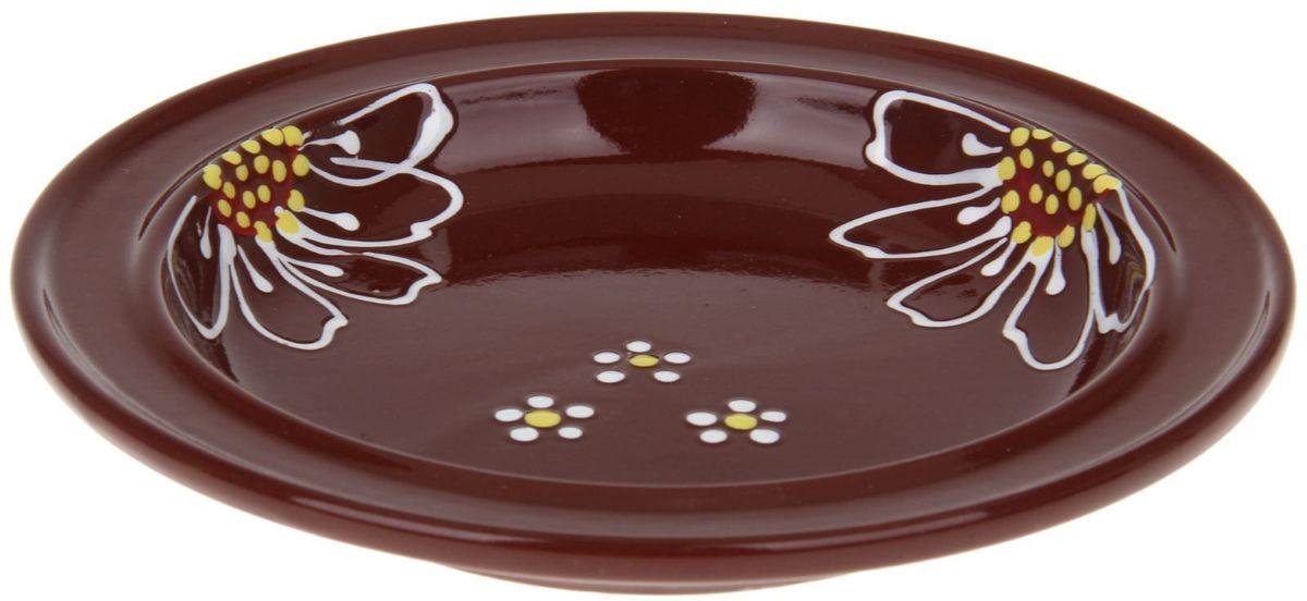 Тарелка Псковский гончар Орнамент, цвет: коричневый, диаметр 20 см1228250Из красивой посуды любое блюдо кажется вкусней! Специальная тарелка d=20 см Орнамент превратит каждый прием пищи в праздник! Вы можете разложить закуски, использовать её под вторые блюда. Из такой посуды приятно кушать тортики. Но это еще не всё! Материал: Специальный материал — красная глина — позволит ставить миску в духовку, на аэрогриль и в СВЧ-печь. Специальный обжиг повышает прочность и долговечность изделия. Безопасная глазурь облегчит процесс мытья. Блюда на нашей миске надолго сохранят свою температуру благодаря пористой структуре изделия. Дизайн: Лаконичная форма и яркая расцветка будут поднимать настроение и аппетит, притягивать взгляды и вызывать желание попробовать содержимое тарелки от «Псковского гончара»! Устойчивое донышко предотвращает возможность опрокидывания. Выбирайте качественные вещи, которые будут радовать вас долгие годы и создадут на вашем столе неповторимую атмосферу уюта и тепла!