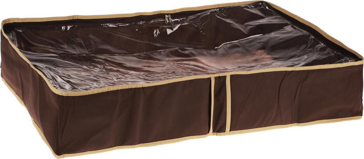 Чехол для одеял Все на местах Париж, цвет: темно-коричневый, бежевый, 80 х 45 х 15 см1002022.Чехол для одеял Minimalistic выполнен из сочетания ПВХ и спанбонда. Модель имеет две удобные вертикальные ручки. В стенки чехла вставлен уплотнитель, что позволяет ему держать форму. Подходит для хранения одеял, пледов, подушек и т.д. Материал: спанбонд, ПВХ. Размер: 80 х 45 х 15 см.