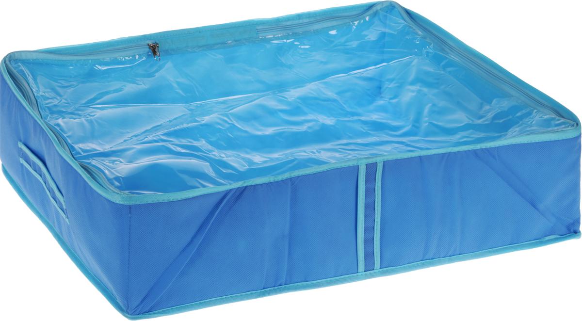 Кофр для одеял Все на местах Чик-Чирик, детский, цвет: голубой, 60 х 45 х 15 смUP210DFКофр для вещей Все на местах Чик-Чирик изготовлен из сочетания спанбонда и ПВХ. Дышащая ткань позволяет вещам проветриваться, но препятствует проникновению пыли и насекомых. Крышка кофра прозрачная и позволяет видеть, что в нем хранится, не открывая ее. Удобные ручки по бокам кофра позволяют легко достать его из самых труднодоступных мест - с антресолей или из под кровати. В стенки чехла вставлен уплотнитель, что позволяет ему держать форму. Размеры: 60 х 45 х 15 см.