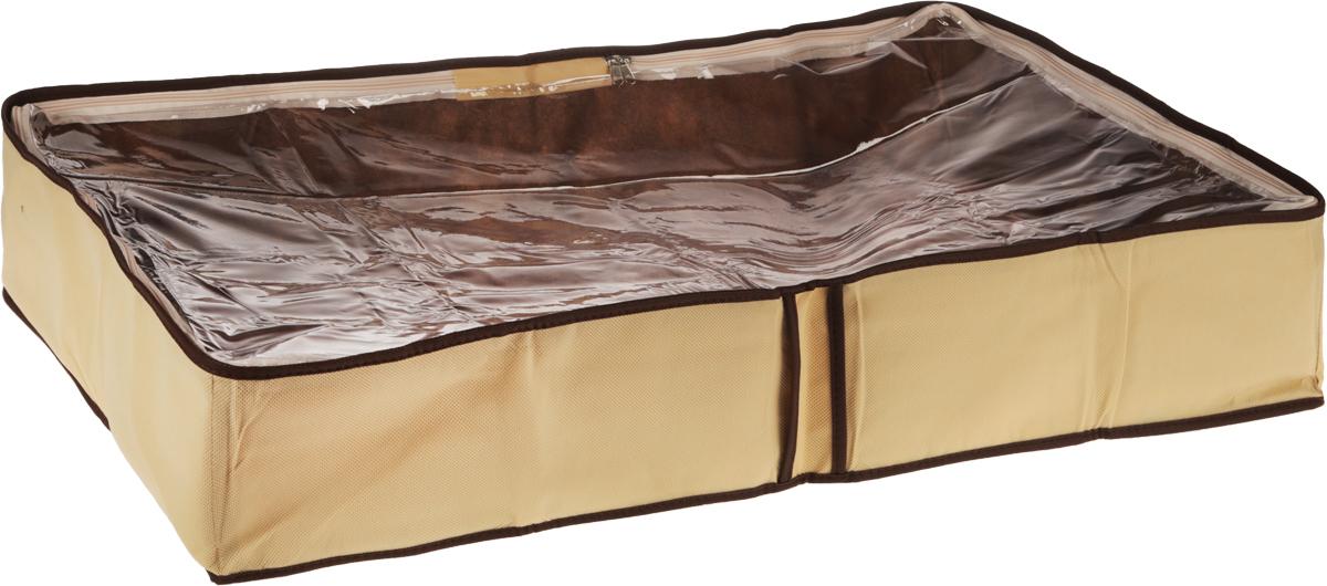 Чехол для одеял Все на местах Париж, цвет: коричневый, бежевый, 80 х 45 х 15 см1001022.Чехол для одеял Minimalistic выполнен из сочетания ПВХ и спанбонда. Модель имеет две удобные вертикальные ручки. В стенки чехла вставлен уплотнитель, что позволяет ему держать форму. Подходит для хранения одеял, пледов, подушек и т.д. Материал: спанбонд, ПВХ. Размер: 80 х 45 х 15 см.