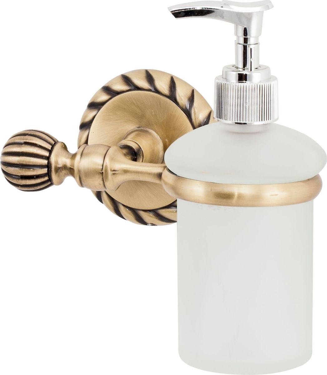 Дозатор для жидкого мыла Del Mare 11800, цвет: античная бронза11810Дозатор жидкого мыла удобен для применения в ванных комнатах, уборных и на кухнях. Изделие оснащено крышкой с кнопкой, обеспечивающей дозированную выдачу мыла.