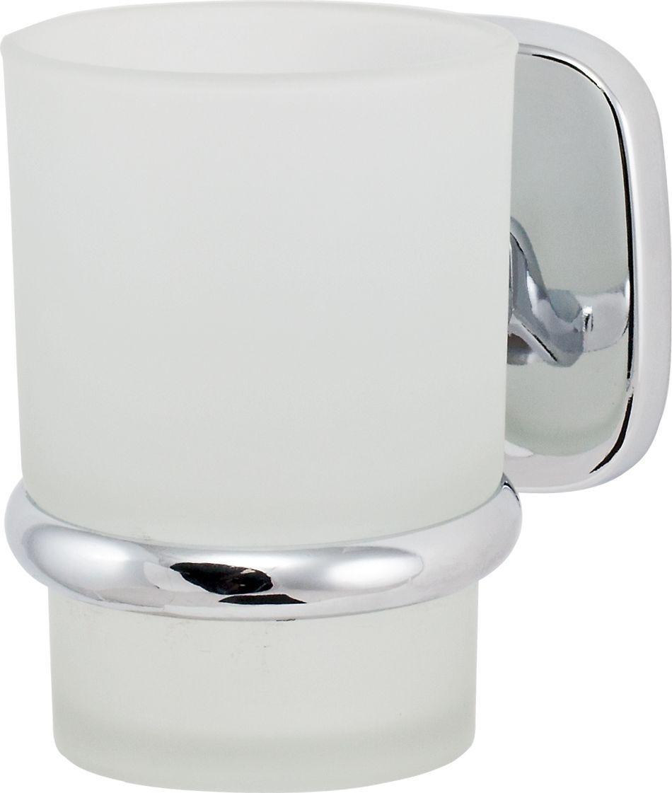 Держатель стакана Del Mare 1500, цвет: хром391602Держатель для зубных щеток и паст Del Mare 1500 - это настенный стаканчик из матового стекла, укрепленный на металлическом каркасе. Крепление поставляется в комплекте. Стеклянный подвесной стакан с возможностью размещения зубных щеток и пасты позволит организовать порядок в ванной комнате.