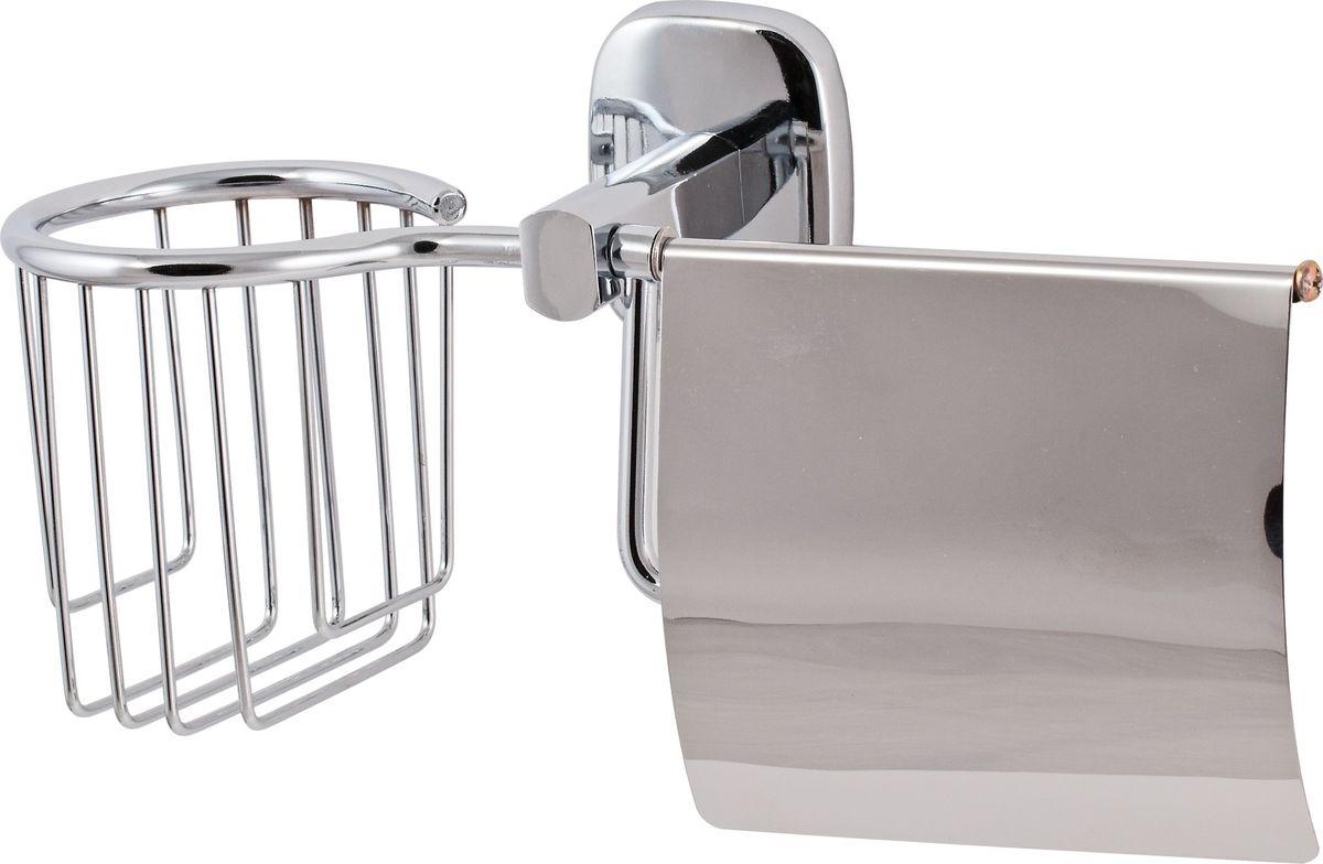 Держатель туалетной бумаги Del Mare 1500, с крышкой, цвет: хром19201Держатель закрытого типа Del Mare 1500 – удобный и практичный аксессуар для размещения туалетной бумаги, обеспечивающий хранение средств личной гигиены в необходимом месте.