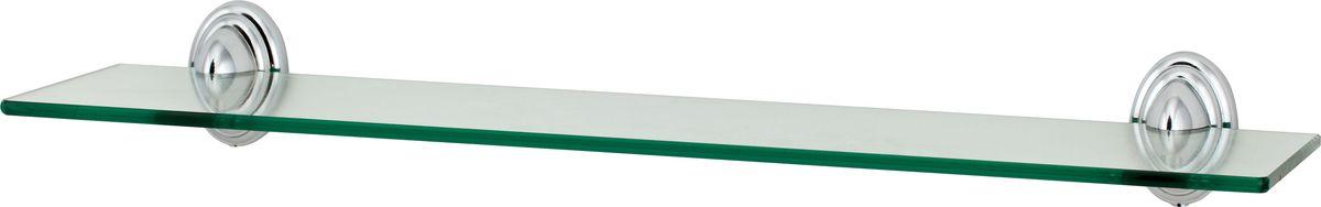 Полка для ванной Del Mare 3100, цвет: хром, прозрачный, 48 смUP210DFПолка Del Mare 3100 произведена из стекла и безопасного, прочного и стойкого к коррозии металлического сплава, с многослойным никель-хромовым покрытием, стойким к истиранию. Внутренние элементы крепления после монтажа остаются скрытыми, сохраняя аккуратный и эстетичный вид изделия. Стеклянная полка - это удобная настенная подставка для хранения различной косметики, средств для умывания, мыльниц и других аксессуаров, что позволит организовать порядок в ванной комнате.Длина полки: 48 см.Ширина полки: 11,5 см.