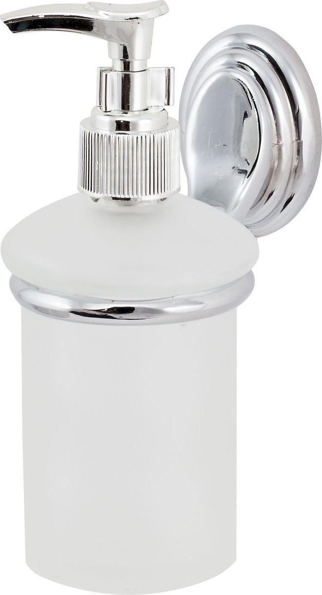 Дозатор для жидкого мыла Del Mare 3100, цвет: хром3110Дозатор жидкого мыла удобен для применения в ванных комнатах, уборных и на кухнях. Изделие оснащено крышкой с кнопкой, обеспечивающей дозированную выдачу мыла.