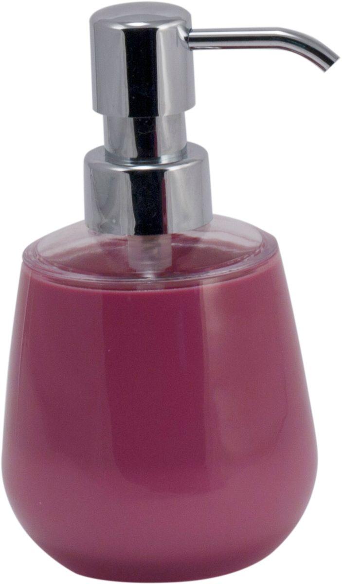 Дозатор для жидкого мыла Swensa Рондо, цвет: слива, 250 млAC-3001A-PlumДозатор для жидкого мыла Рондо — отличная альтернатива традиционной мыльнице. Сочетание емкости из акрила и хромированного «носика» выглядит просто, но, в то же время, стильно. Моющее средство (мыло или гель) выдается дозированно, а значит, существенно экономится. Благодаря компактному размеру, место для диспенсера найдется даже на небольшой полочке в ванной.
