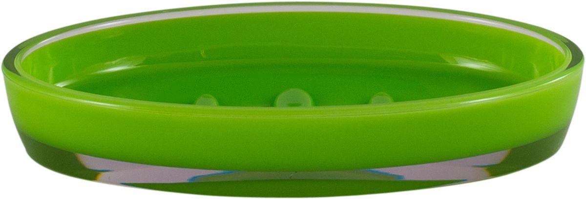 Мыльница Swensa Рондо, цвет: зеленыйAC-3001D-GreenМыльница Рондо поможет внести свежую нотку в продуманный интерьер ванной комнаты. Ребристое дно препятствует выскальзыванию и размоканию бруска мыла, а благодаря компактным размерам и овальной форме аксессуар легко размещается на стеклянной полке, бортике ванны или уголке раковины. Влагостойкое покрытие обеспечивает надежную защиту от повышенной влажности и воздействия высоких температур, продлевая срок службы изделия.