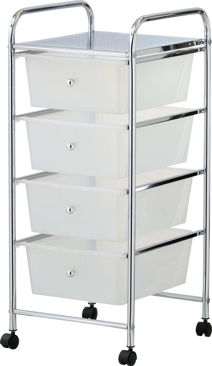 Стеллаж напольный для ванной Swensa, 4 ящика, цвет: хром, 32 х 76 смSWFL-193Стеллаж с четырьмя ящиками — практичный аксессуар для ванной комнаты, предназначенный для хранения текстильных изделий, гигиенических средств и других важных мелочей. Металлическая конструкция оборудована четырьмя выдвигающимися пластиковыми ящиками с ручками. Наличие колес, закрепленных в основании стеллажа, обеспечивает высокую мобильность и удобство перемещения конструкции.