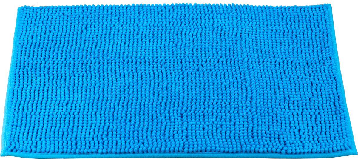 Коврик для ванной Swensa, цвет: синий, 45 х 70 смSWM-3003SK-BКоврик выполнен из полиэстера – современного и очень нежного на ощупь материала, обладающего рядом полезных свойств. Он не мнется, не теряет форму и легко чистится без специальной подготовки. Полиэстер не пропускает воду и быстро высыхает. При должном уходе он будет дарить уют и комфорт многие годы, не теряя отличного внешнего вида.