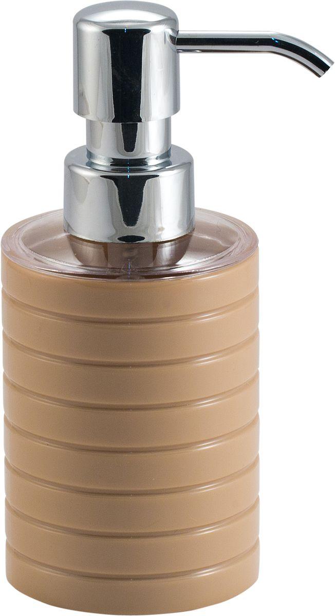 Дозатор для жидкого мыла Swensa Тренто, цвет: бежевый, 250 мл391602Дозатор для жидкого мыла Swensa Тренто станет незаменимым помощником для проведения ежедневных гигиенических процедур. Представленная модель изготовлена из пластика, прочного материала, который обезопасит изделие от любых нежелательных воздействий и повреждений. Стильный универсальный дизайн изделия позволит ему стать заметным и интересным акцентом в любом интерьере.