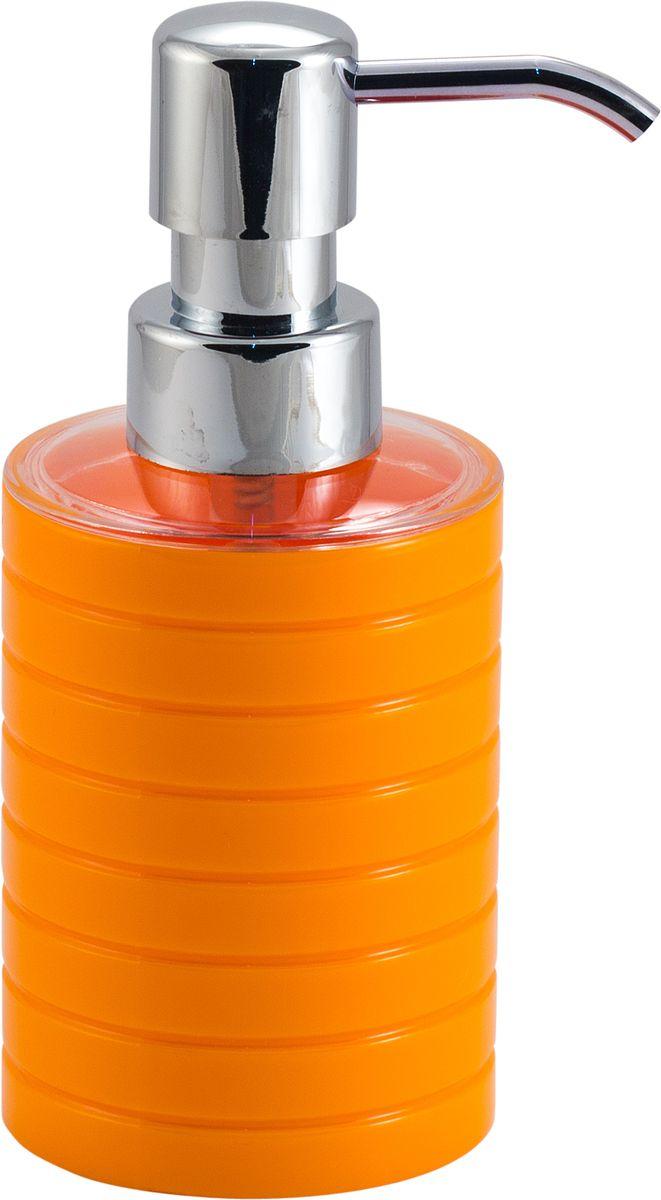 Дозатор для жидкого мыла Swensa Тренто, цвет: оранжевый, 250 млUP210DFДозатор для жидкого мыла Swensa Тренто станет незаменимым помощником для проведения ежедневных гигиенических процедур. Представленная модель изготовлена из пластика, прочного материала, который обезопасит изделие от любых нежелательных воздействий и повреждений. Стильный универсальный дизайн изделия позволит ему стать заметным и интересным акцентом в любом интерьере.