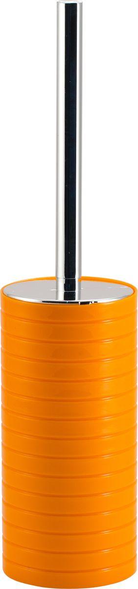 Ершик для унитаза Swensa Тренто, с подставкой, цвет: оранжевый96515412Напольный ерш Swensa Тренто способен стать не только функциональным предметом, но и украшением интерьера. Эргономичная блестящая рукоятка и специальная щетка с жёсткой щетиной позволяют быстро и эффективно справиться с поставленной задачей. После использования аксессуар легко моется и не впитывает запахи. Оригинальная подставка изготовлена из ударопрочного пластика и имеет запоминающийся дизайн.