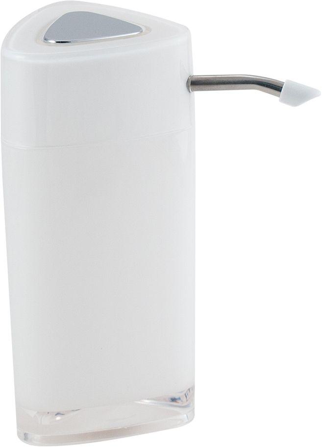 Дозатор для жидкого мыла Swensa Нео, с зеркалом, цвет: белый, 250 млSWP-0700WH-AДозатор для жидкого мыла обеспечивает его экономный расход и упрощает процедуру умывания. Дизайн этого изделия выполнен с учетом модных тенденций оформительского искусства. Флакон дозатора имеет эргономичную форму, позволяя увеличить полезное пространство на полке в ванной или на кухонной мойке. Внешняя часть помпы изготовлена из металла, стойкого к окислению под воздействием моющих средств и воды. Конструкция помпы выдерживает многократные нагрузки.