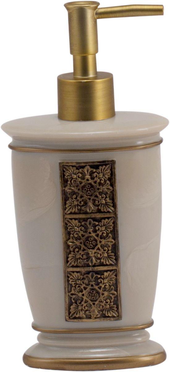 Дозатор для жидкого мыла Swensa Синтра, цвет: слоновая кость, 250 млSWT-4040AДозатор для жидкого мыла Синтра выполнен из высокотехнологичного материала полирезин. Благодаря такому решению, изделие отличается высокой прочностью, не бьется, не царапается и не деформируется при падении. Полирезин не выделяет токсинов и неприятных запахов, хорошо переносит эксплуатацию во влажной среде. Дозатор декорирован под мрамор и дополнен узором в античном стиле. Поршень, окрашенный в цвет бронзы, обеспечивает плавную подачу оптимальной порции моющего средства, тем самым лимитируя его расход.