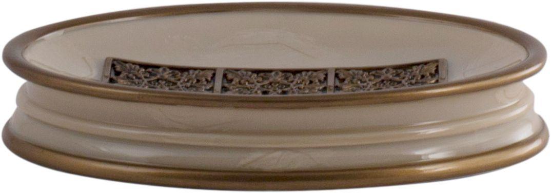 Мыльница Swensa Синтра, цвет: слоновая костьSWT-4040DМыльница Синтра — стильный аксессуар ванной комнаты, способный стать достойным украшением интерьера. Структура полирезина, из которого выполнено изделие, визуально напоминает мраморную поверхность. Этот необычный материал производится из каменной крошки и искусственной смолы, отличается прочностью и красивым блеском. Центральная часть внутренней поверхности мыльницы декорирована привелекательным контрастным мотивом.