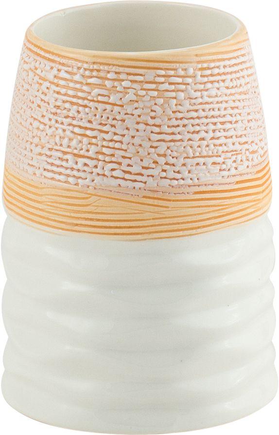 Стакан для ванной Swensa Аттика, цвет: бежевый96515412Стакан для ванной Swensa Аттика — удобный и стильный аксессуар для ванной комнаты, в котором удобно хранить зубные щетки. Производитель — популярный бренд Swensa, известный качественной продукцией. Всю серию Аттика отличает оригинальный дизайн. Стакан приятного бежево–белого цвета обладает фактурной поверхностью, благодаря этому его удобно держать в руках. Изделие изготовлено из керамики - экологичного и долговечного материала.