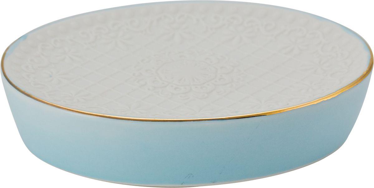 Мыльница Swensa Романс, цвет: бело-голубойSWTK-2800DМыльница из коллекции Романс прекрасно вписывается в интерьер ванной комнаты. Она отличается компактностью и простым, но стильным дизайном. Модель выполнена из керамики, что обеспечивает оптимальное соотношение массы и прочности. Изделие не боится воды, легко чистится и сушится. Мыльница прослужит долгие годы.