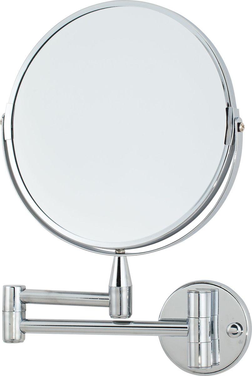 Зеркало косметическое Del Mare, настенное, цвет: хром, 20 смL08-8Косметическое зеркало на кронштейне из хромированной стали — идеальное решение для нанесения макияжа и выполнения других косметических процедур. Фактически изделие состоит из двух зеркал, дающих разные степени увеличения. В большее по размеру зеркало овальной формы встроено еще одно — маленькое вращающееся зеркало, одна сторона которого имеет двукратное увеличение, другая — восьмикратное. Возможность регулировки угла наклона встроенного зеркальца позволяет разглядеть и вовремя исправить любые недочеты в макияже. Крепление к стене позволяет установить аксессуар в любом удобном для использования месте.