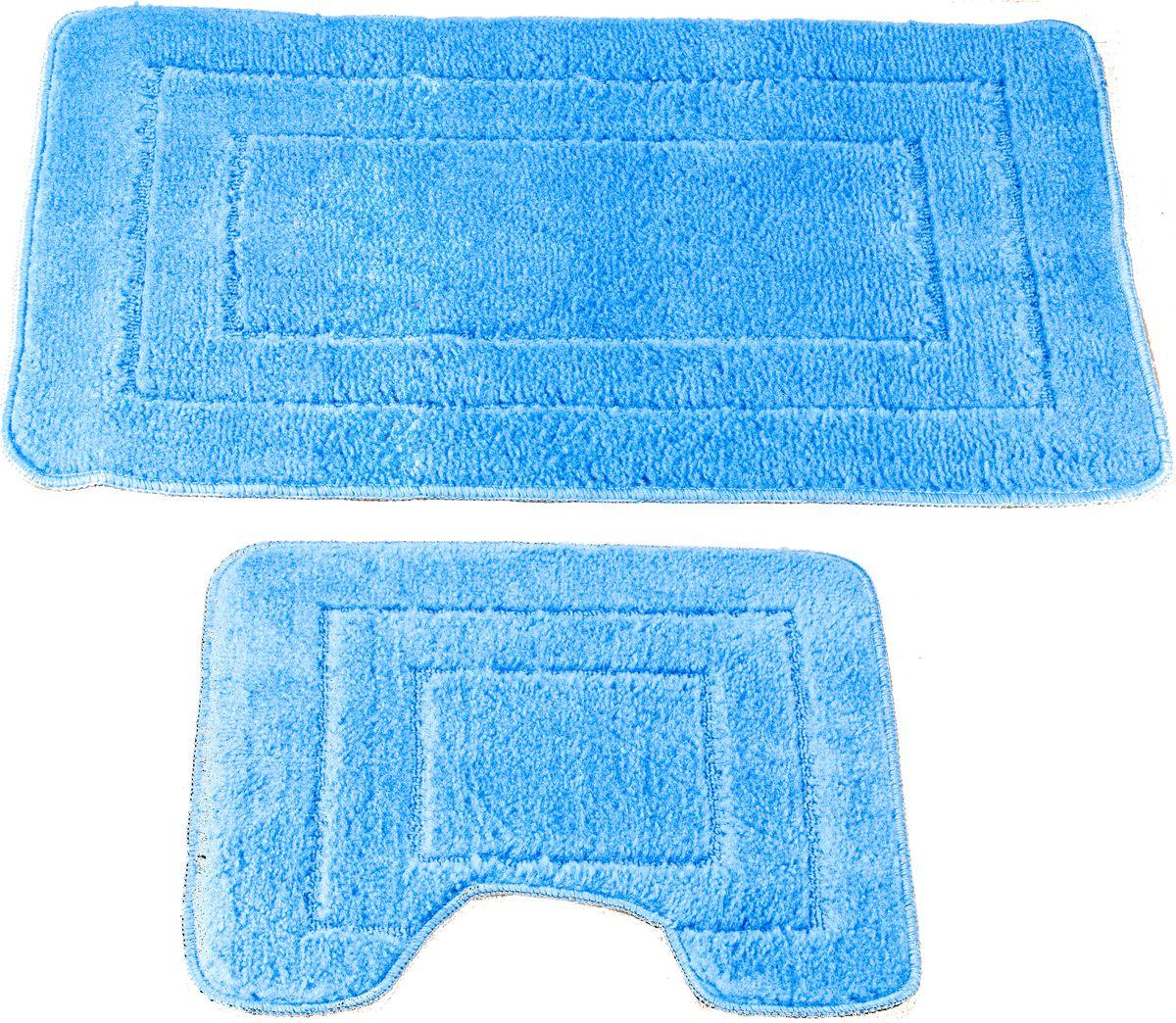 Набор ковриков для ванной Swensa Como, цвет: голубой, 45 х 70 см, 45 х 45 см, 2 штSWMS-1030-SKYНабор ковриков Como — аксессуар для ванной комнаты, сочетающий отличные эксплуатационные характеристики с привлекательной расцветкой. Изделие выполнено из гипоаллергенного и износостойкого полипропиленового волокна. Рельефный ворс различной длины обеспечивает приятные тактильные ощущения и легкий массажный эффект. Края обработаны оверлоком, что предохраняет коврик от разлохмачивания и деформации. Рекомендована деликатная машинная стирка.