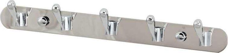 Крючки на планке Del Mare, 5 крючков, цвет: хром, 29 смК2515Крючки 5 шт на планке для ванной комнаты