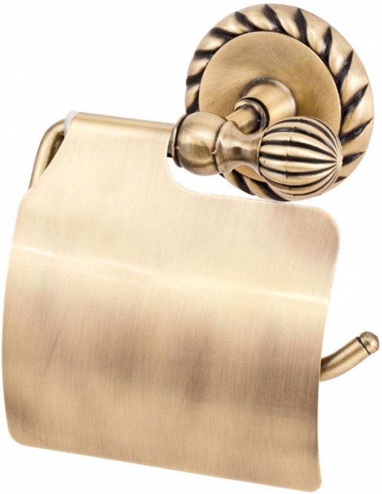 Держатель туалетной бумаги Del Mare 11800, с крышкой, цвет: античная бронза11804-1Держатель туалетной бумаги — практичный аксессуар для санузла, выполненного в современном стиле. Этот небольшой, но важный предмет интерьера поможет создать эргономичное пространство даже в компактном помещении. Держатель прекрасно гармонирует с любой расцветкой ванной комнаты. Хромированная поверхность изделия создает зеркальный эффект, подчеркивая оформление ванной комнаты.