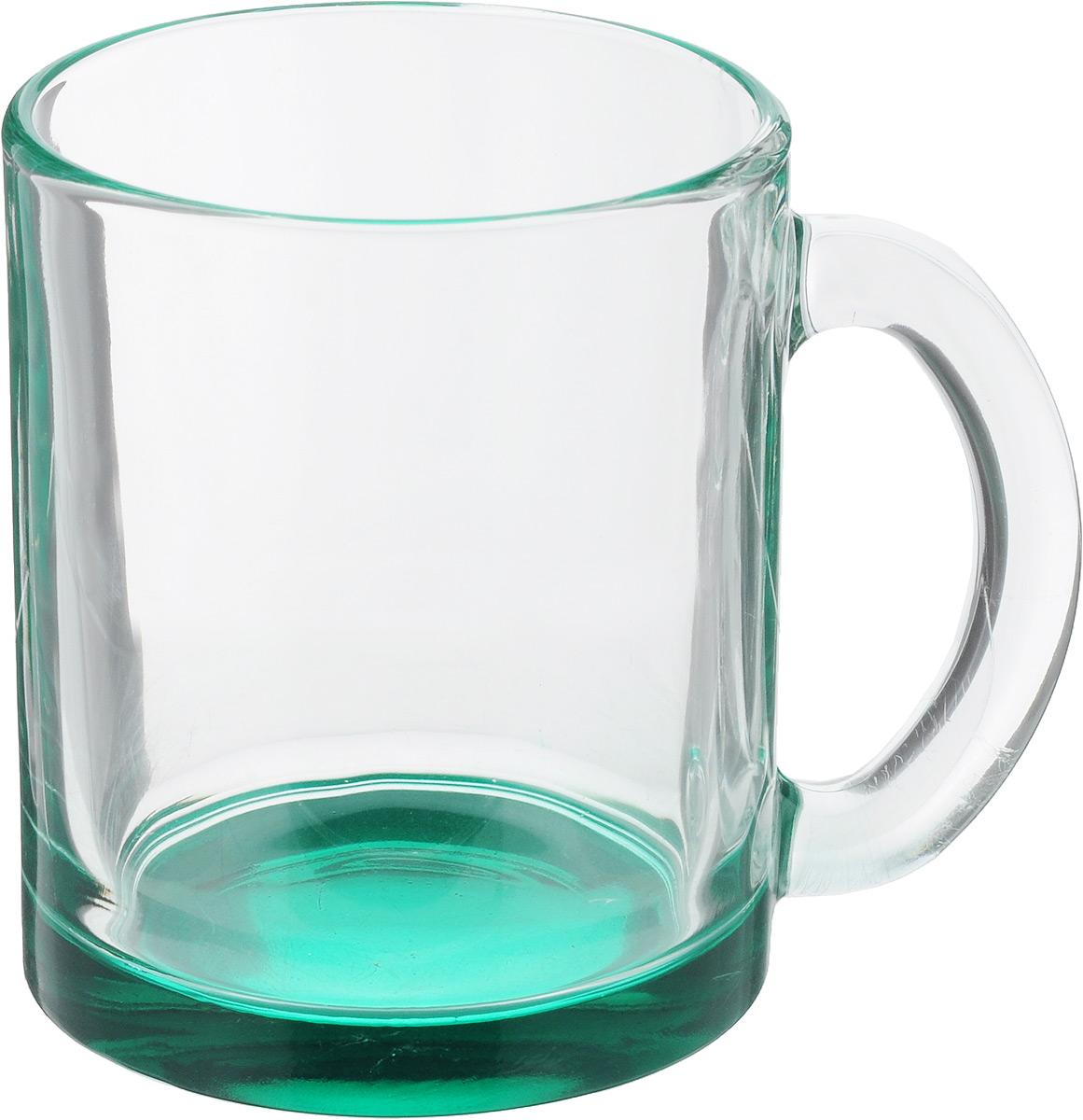 Кружка OSZ Чайная, цвет: прозрачный, бирюзовый, 320 мл115510Кружка OSZ Чайная изготовлена из стекла двух цветов. Изделие идеально подходит для сервировки стола.Кружка не только украсит ваш кухонный стол, но и подчеркнет прекрасный вкус хозяйки. Диаметр кружки (по верхнему краю): 8 см. Высота кружки: 9,5 см. Объем кружки: 320 мл.