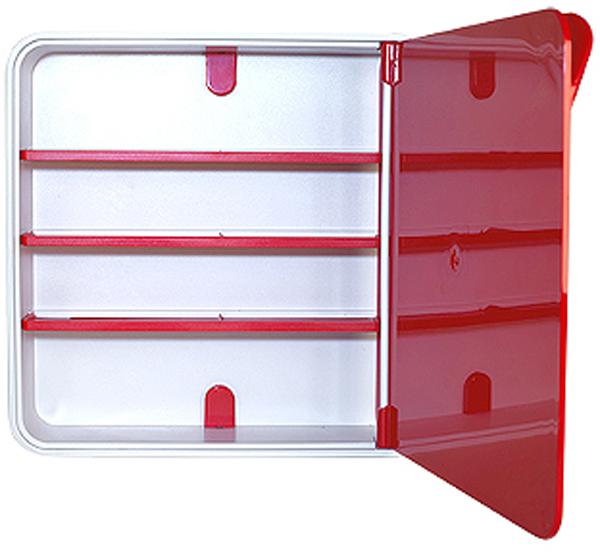 Подвесной органайзер для лекарств Byline, цвет: красный. 108.3202.05108.3202.05Настенная аптечка - изготовлена из прочного пластика высокого качества, позволяющего эксплуатировать изделие на протяжение весьма существенного периода. Уникальность аптечке придает глянцевая дверца яркого цвета с удобной ручкой.