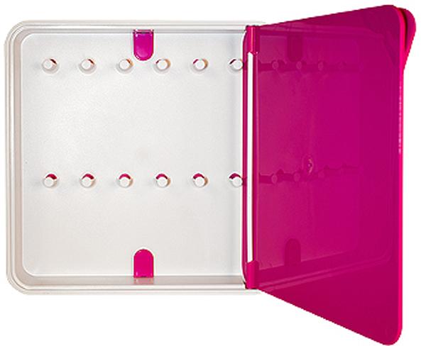 Ключница настенная Byline, цвет: розовый. 108.3201.07FS-91909Настенные ключницы - созданы как удобные органайзеры для хранения и контроля за комплектами ключей. Больше не надо думать, куда положить ключи от квартиры или дома, машины, почтового ящика, кладовки.