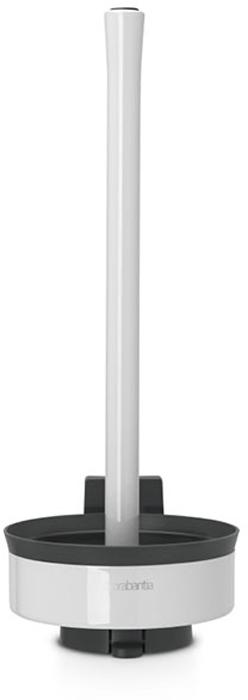 Держатель для туалетной бумаги Brabantia. 483448483448Держатель для туалетной бумаги Brabantia 483462 крепится к стене с помощью прилагаемого кронштейна, благодаря чему не занимает место на полу и облегчает уборку в ванной комнате. Легко вынимается из настенного крепления для тщательной очистки стене позади держателя. Также может быть использован без кронштейна - на полу ванной комнаты. Нескользящее основание предотвращает скольжение по плитке. Простая и быстрая замена рулонов туалетной бумаги. Вмещает до трех рулонов туалетной бумаги. Держатель изготовлен из коррозионностойких материалов. Инструкция и фурнитура для монтажа в комплекте. Сочетается с другими аксессуарами Brabantia для ванной комнаты: настенным или напольным мусорными баками, туалетным ершиком, мыльницей, держателем для стаканов, полочкой для ванной комнаты, крючками и держателями для полотенца. Гарантия 10 лет.