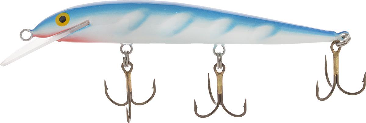 Воблер Blind Paroni, цвет: голубой, белый, длина 13 см, вес 17 гPAR-13023Воблер Blind Paroni применяется для ловли хищных видов рыб. Воблер изготовлен из качественного пластика и отличается яркой расцветкой. Три тройника не дадут ускользнуть самой верткой рыбе.