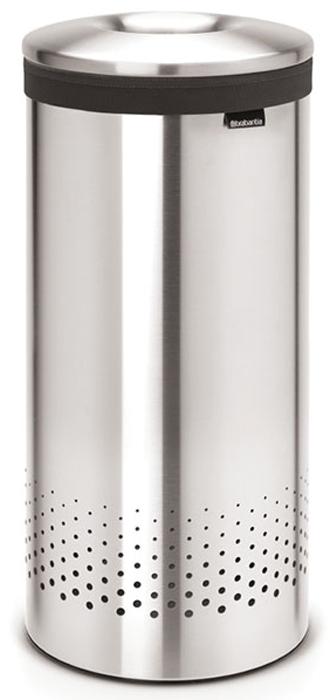 Бак для белья Brabantia, 35 л. 105128ES-41235-литровый бак для белья Brabantia выполнен из стойких к коррозии материалов и идеально подходит для влажных помещений. Благодаря классическому дизайну бак легко впишется в интерьер Вашей ванной комнаты!Изготовлен из коррозионностойких материалов (нержавеющая сталь и пластик).Металлическая крышка с отверстием, которое позволяет положить мелкие предметы в бак, не открывая крышку.Пластиковое защитное кольцо предотвращает повреждение пола. Вентиляционные отверстия на корпусе позволяют содержимому бака дышать, что позволяет избежать появления неприятного запаха. Съемный мешок для белья легко менять. Благодаря прорезиненным краям мешок не соскальзывает в корзину. В комплект входит съемный моющийся мешок для белья. •Гарантия 10 лет.