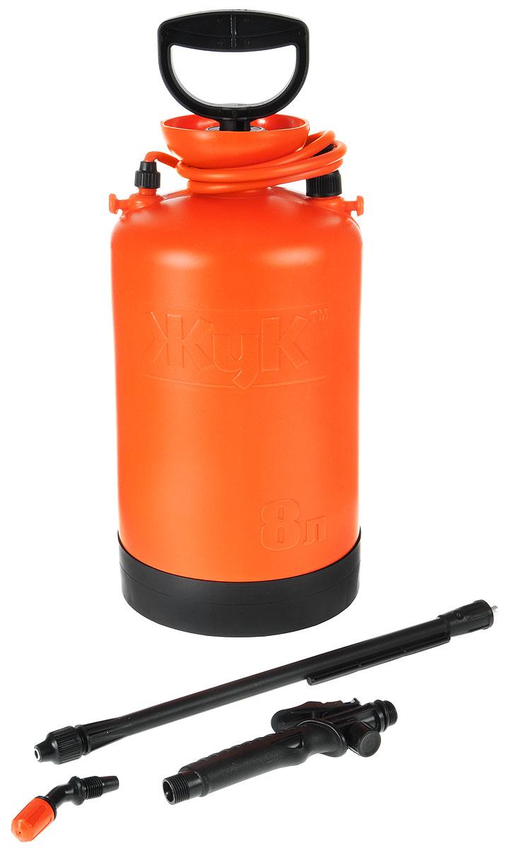 Опрыскиватель ЖУК ОП-207, 8 л112828Опрыскиватель ЖУК ОП-207 применяется для химической защиты растений от вредителей и болезней, а также для уничтожения сорняков. Возможно использование опрыскивателя для обработки поверхностей с использованием моющих средств, чистки стен, стекло и других работ. Цельная горловина создает дополнительную герметичность бака, что гарантирует безопасность эксплуатации и предотвращает возможность вытекания жидкости во время работы. Широкий плечевой ремень, входящий в комплектацию, снимает напряжение с мышц спины во время эксплуатации. Данная модель идеальна для ухода за растениями на небольших садовых участках.Объем бака: 8 л.Объем заливаемой жидкости: 7 л.Длина брандспойта: 60-92 см.Рабочее давление: 0,23 Мпа.Расход рабочей жидкости: 0,6-0,8 л/мин.Диапазон регулировки факела распыла: от 0° до 90°.