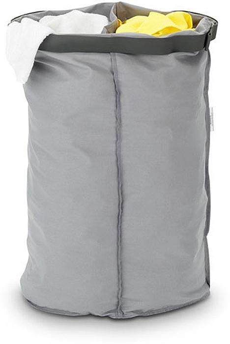 Мешок для бака для белья Brabantia, двойной. 102387102387Мешок Brabantia для бака для белья (55л). Сменный мешок подойдет для бака для белья Brabantia объемом 30-35л. Этот мешок для белья изготовлен из прочной ткани (100% хлопок) и легко стирается. Благодаря эластичным прорезиненным краям мешок легко устанавливается и не соскальзывает в бак.