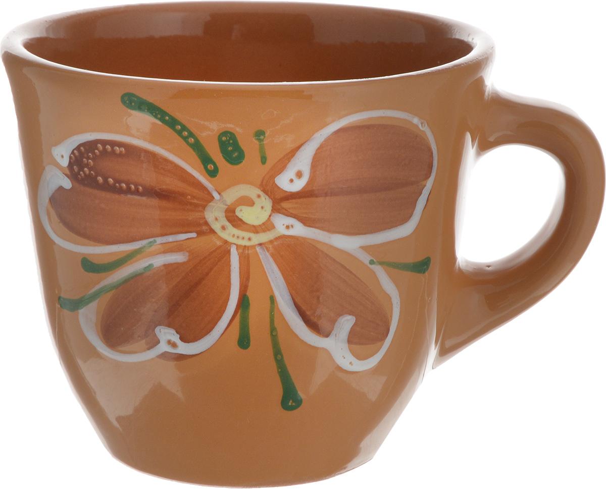 Чашка Борисовская керамика Стандарт, цвет: светло-коричневый, 300 млОБЧ00000628_светло-коричневыйУдобная чашка Борисовская керамика Стандарт предназначена для повседневного использования. Она выполнена из высококачественной глины и оформлена рисунком. Природные свойства этого материала позволяют долго сохранять температуру напитка, даже, если вы пьете что-то холодное. Диаметр чашки (по верхнему краю): 10 см. Диаметр основания: 6 см. Высота чашки: 8,5 см.