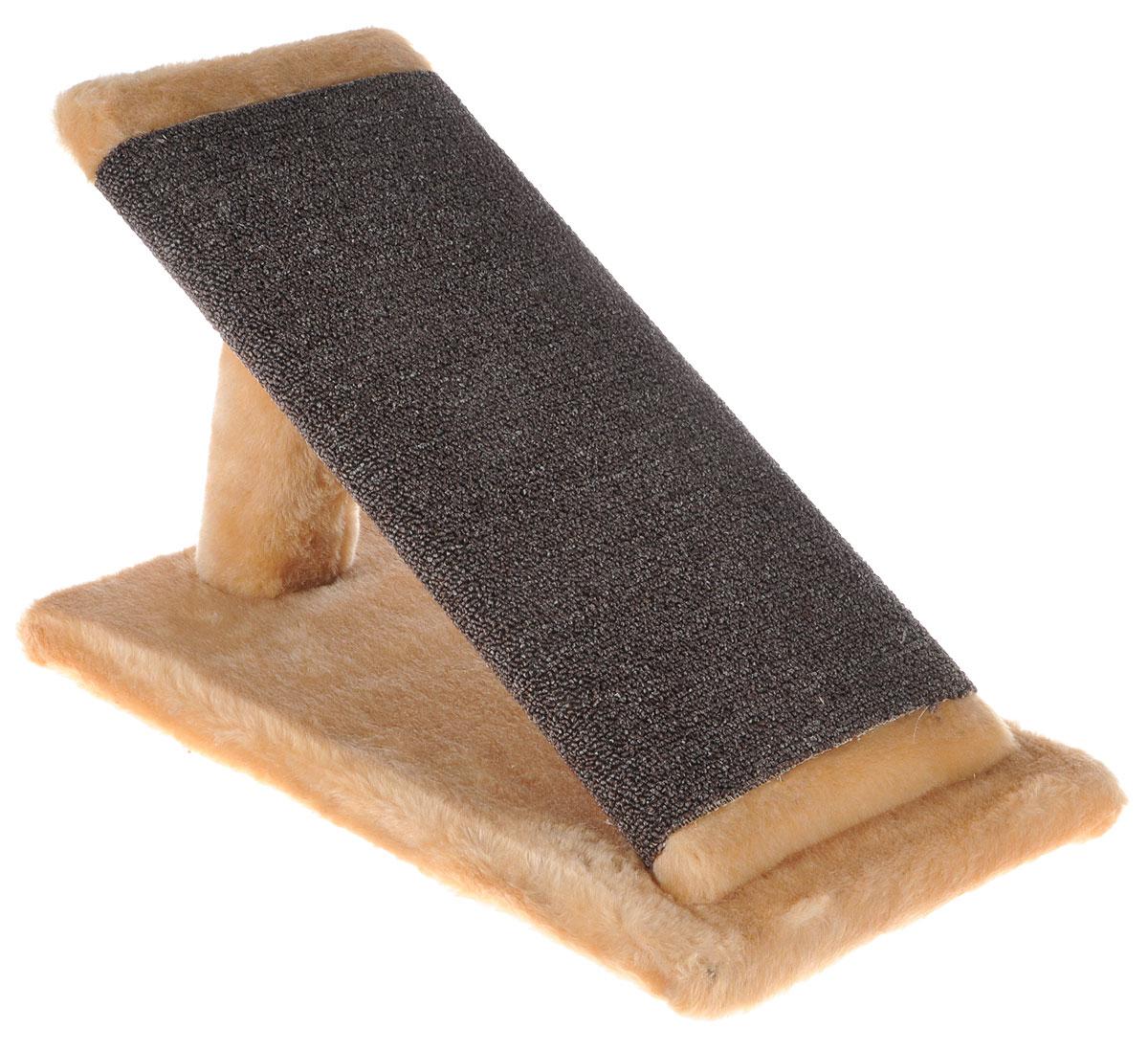 Когтеточка для котят Меридиан Горка, цвет: светло-коричневый, коричневый, 45 х 25 х 25 смК103К СККогтеточка Меридиан Горка предназначена для стачивания когтей вашего котенка и предотвращения их врастания. Она выполнена из ДВП, ДСП и искусственного меха. Точатся когти о накладку из ковролина. Когтеточка позволяет сохранить неповрежденными мебель и другие предметы интерьера.