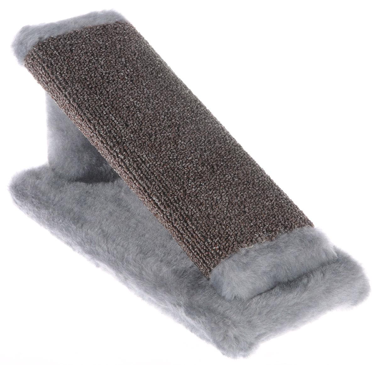 Когтеточка для котят Меридиан Горка, цвет: светло-серый, коричневый, 29 х 14 х 14 см0120710Когтеточка Меридиан Горка предназначена для стачивания когтей вашего котенка и предотвращения их врастания. Она выполнена из ДВП, ДСП и искусственного меха. Точатся когти о накладку из ковролина. Когтеточка позволяет сохранить неповрежденными мебель и другие предметы интерьера.