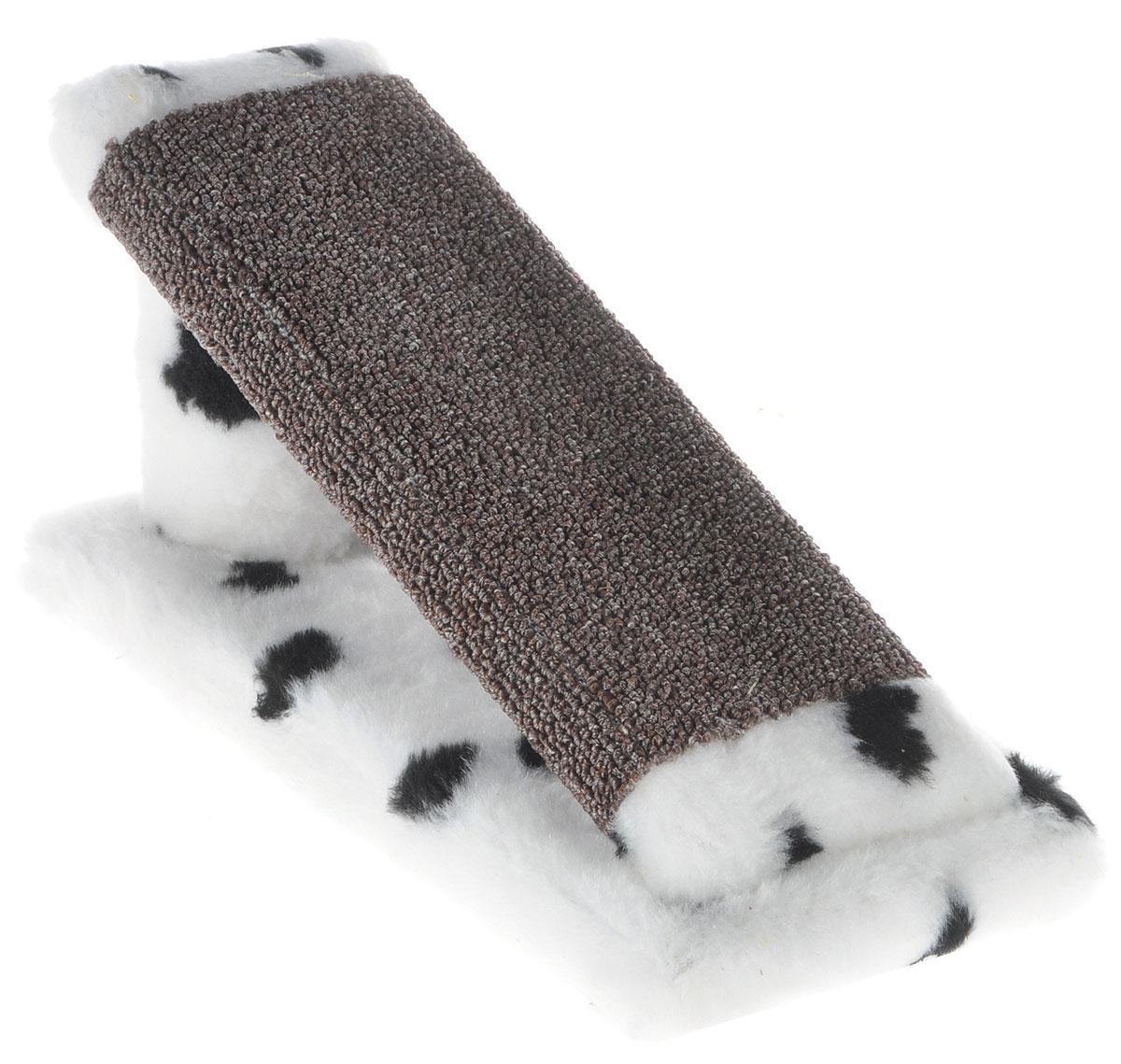 Когтеточка для котят Меридиан Горка, цвет: белый, черный, коричневый, 29 х 14 х 14 см0120710Когтеточка Меридиан Горка предназначена для стачивания когтей вашего котенка и предотвращения их врастания. Она выполнена из ДВП, ДСП и искусственного меха. Точатся когти о накладку из ковролина. Когтеточка позволяет сохранить неповрежденными мебель и другие предметы интерьера.