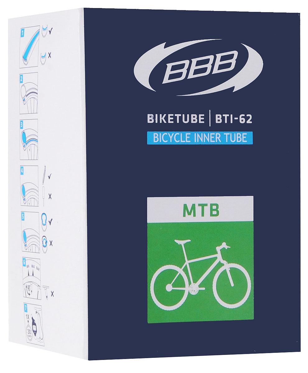 Камера велосипедная BBB, 26, 1,5-1,75 FVMHDR2G/AКамера BBB изготовлена из долговечного резинового компаунда. Никаких швов, которые могут пропускать воздух. Достаточно большая для защиты от проколов и достаточно небольшая для снижения веса. Велосипедные камеры - обязательный атрибут каждого велосипедиста! Никогда не выезжайте из дома на велосипеде, не взяв с собой запасную велосипедную шину!Диаметр колеса: 26.Допустимый размер сечения покрышки: 1,5-1,75.Велониппель (Presta): 33 мм.Толщина стенки: 0,87 мм.