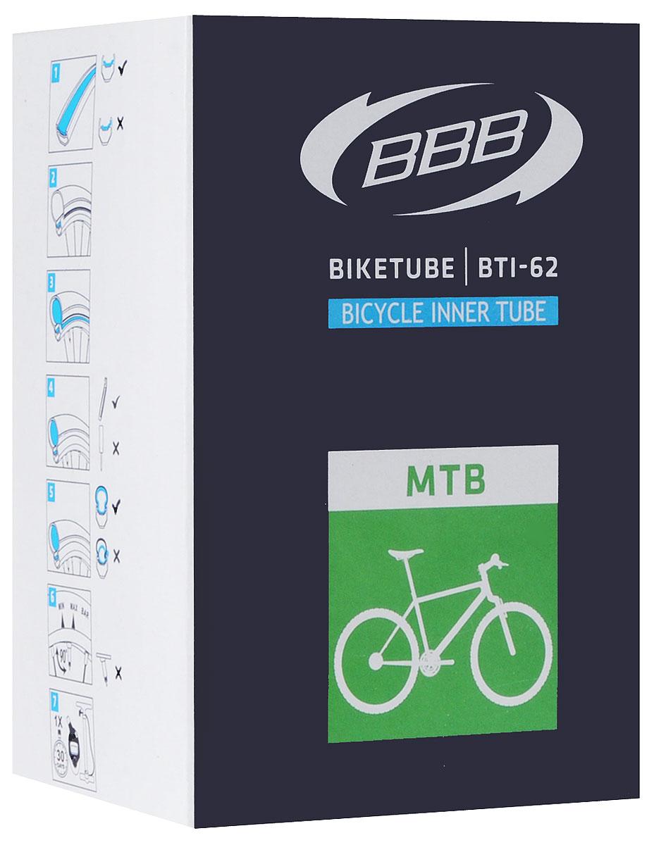 Камера велосипедная BBB, 26, 1,5-1,75 AVBTI-62Камера BBB изготовлена из долговечного резинового компаунда. Никаких швов, которые могут пропускать воздух. Достаточно большая для защиты от проколов и достаточно небольшая для снижения веса. Велосипедные камеры - обязательный атрибут каждого велосипедиста! Никогда не выезжайте из дома на велосипеде, не взяв с собой запасную велосипедную шину! Диаметр колеса: 26. Допустимый размер сечения покрышки: 1,5-1,75. Автомобильный ниппель (Shrader): 33 мм. Толщина стенки: 0,87 мм.