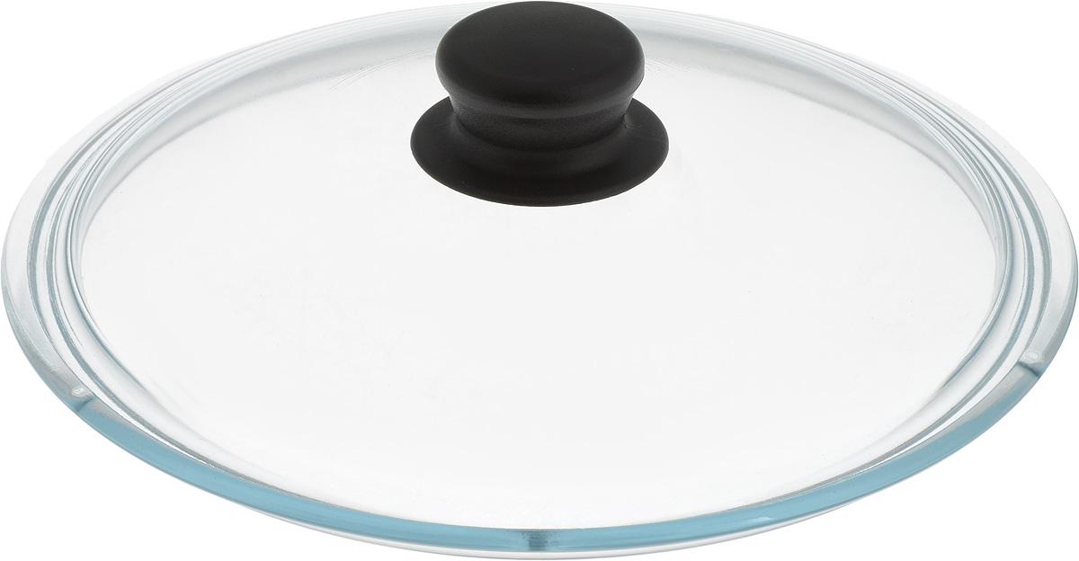 Крышка NaturePan, цвет: черный, прозрачный. Диаметр 24 см. Л2484Л2484Крышка NaturePan изготовлена из термостойкого и экологически чистого стекла с пластиковой ручкой. Изделие удобно в использовании и позволяет контролировать процесс приготовления пищи. Можно мыть в посудомоечной машине. Диаметр крышки: 24 см. Диаметр ручки: 4,5 см. Высота ручки: 2,5 см.