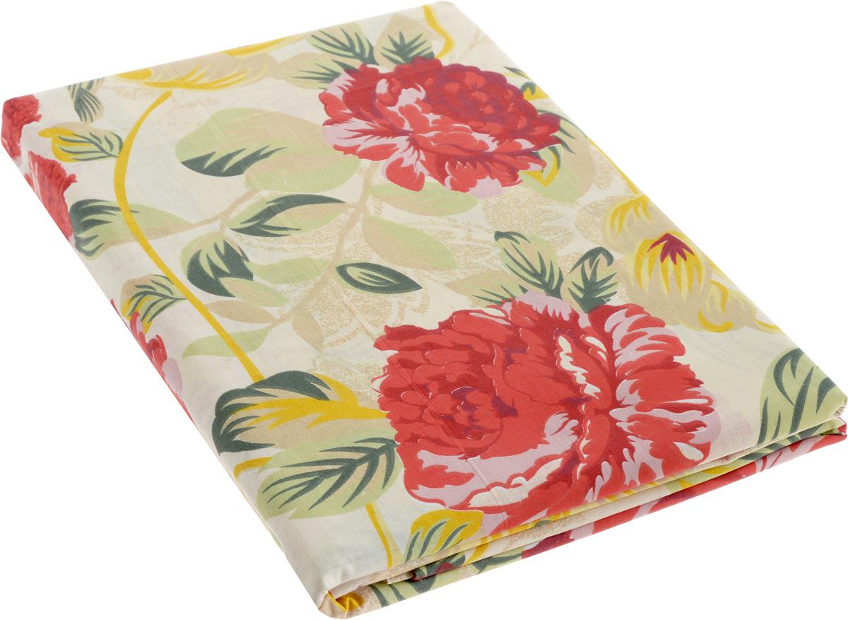 Комплект белья МарТекс Цветы, 1,5-спальный, наволочки 50х70. 01-0405-101-0405-1