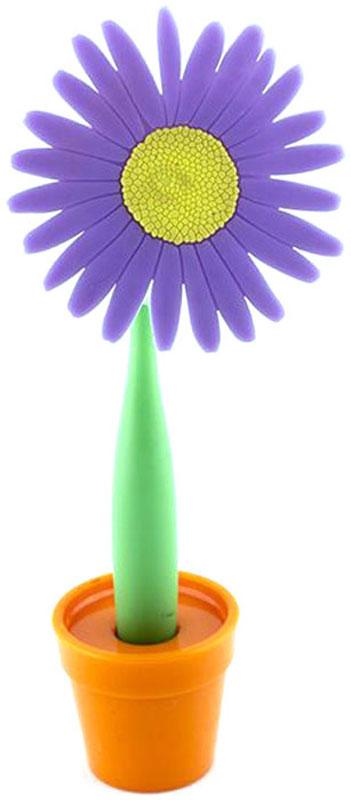 Эврика Ручка шариковая Цветок Астра на подставке цвет фиолетовый96732СВ скучной офисной обстановке иногда так не хватает чего-то солнечного, живого, веселого. Гибкая удобная ручка-цветок с подставкой в форме кашпо внесет недостающие нотки непринужденности и весеннего настроения в канцелярские будни.