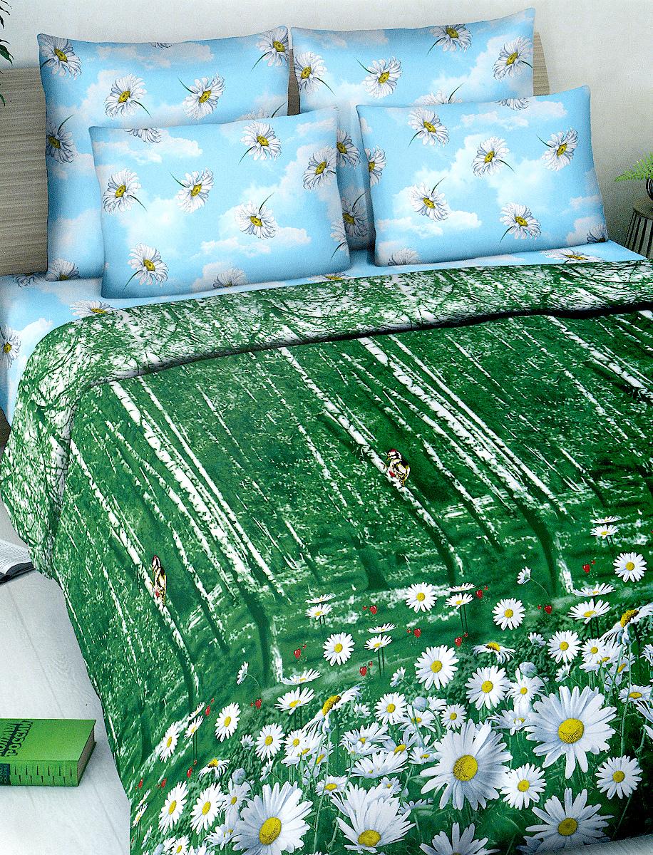Комплект белья МарТекс, 2-спальный, наволочки 70х70, цвет: зеленый, голубойS03301004Комплект постельного белья МарТекс состоит из пододеяльника, простыни и двух наволочек. Постельное белье оформлено оригинальным ярким рисунком и имеет изысканный внешний вид.Комплект изготовлен из качественной хлопчатобумажной бязи. Поверхность материи - ровная и матовая на вид, одинаковая с обеих сторон. Ткань экологична, гипоаллергенная, износостойкая. Это отличный материал для постельного белья.Приобретая комплект постельного белья МарТекс, вы можете быть уверенны в том, что покупка доставит вам и вашим близким удовольствие и подарит максимальный комфорт.
