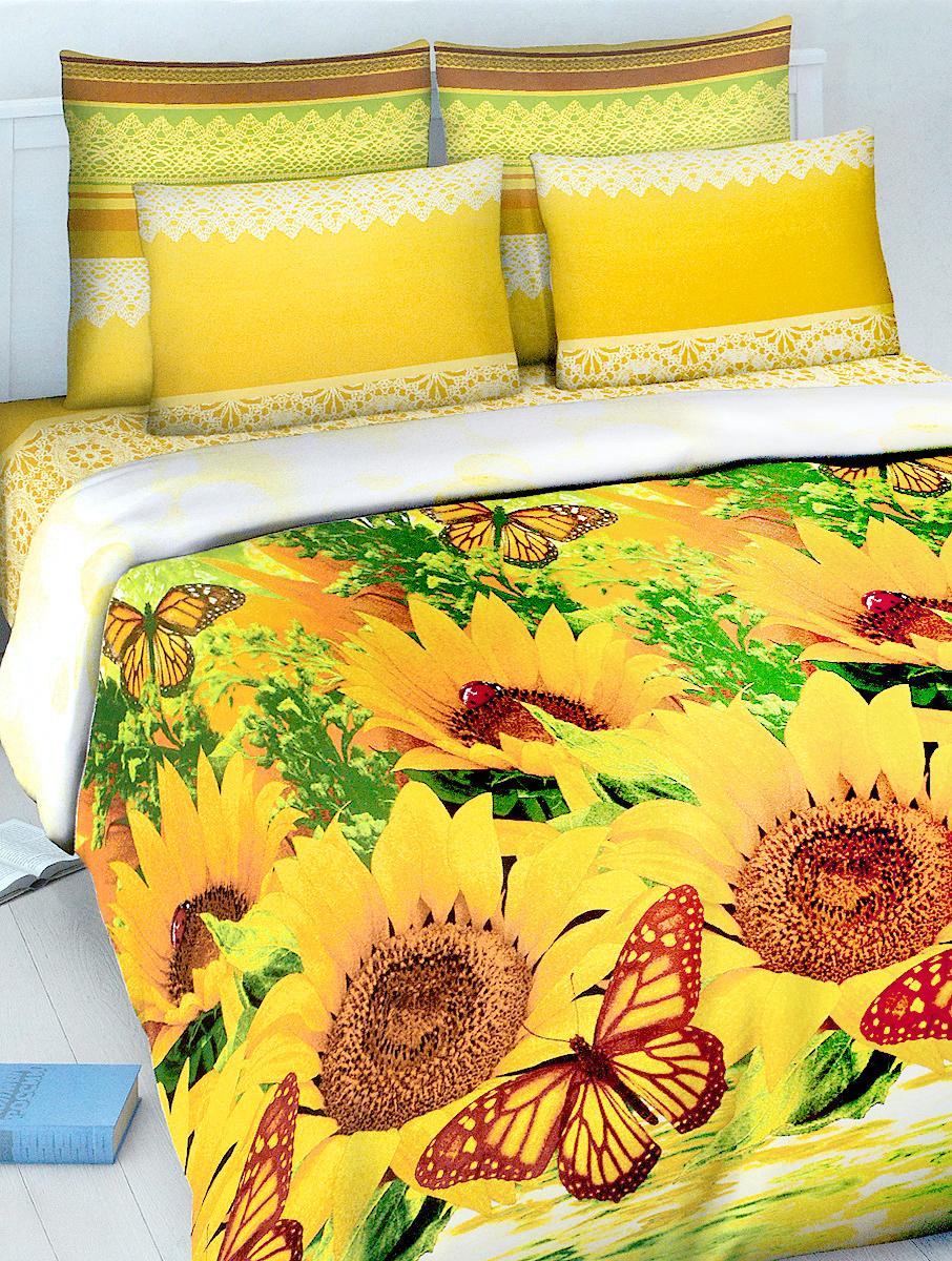 Комплект белья МарТекс Василиса, евро, наволочки 70х70, цвет: желтый, зеленый, коричневый01-1024-3Комплект постельного белья МарТекс Василиса состоит из пододеяльника, простыни и двух наволочек. Постельное белье оформлено оригинальным ярким рисунком и имеет изысканный внешний вид. Комплект изготовлен из качественной хлопчатобумажной бязи. Поверхность материи - ровная и матовая на вид, одинаковая с обеих сторон. Ткань экологична, гипоаллергенна, износостойка. Это отличный материал для постельного белья.