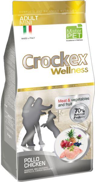 Корм сухой Crockex Wellness для собак мелких пород курица с рисом, 2 кг65193Этот полноценный рацион, дополненный функциональными ингредиентами, поддержит здоровье собаки. Сердцевина ананаса способствует правильному функционированию пищеварительной системы, Гранат и Малина являются превосходными источниками витамина С и богаты полифенолами, антиоксидантами и натуральными укрепляющими веществами с антивозрастным эффектом, которые служат для борьбы со свободными радикалами. Расторопша - лекарственное растение, содержащее силимарин и силибинин, вещества, известные своими противовоспалительными свойствами и эффективно защищающие печень. Пребиотики FOS и MOS помогают модулировать кишечную флору, улучшая таким образом усвоение питательных веществ. Использование риса в качестве первого источника углеводов и свежего мяса цыпленка (15%) обеспечивает высокую перевариваемость и отличную аппетитность рациона. Состав: обезвоженное мясо цыпленка (25%), рис (20%), кукуруза, свежее мясо цыпленка (15%), кукурузная мука, цыплячий жир, рыбная мука, льняное семя (2%),...