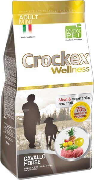 Корм сухой Crockex Wellness для собак мелких пород, конина с рисом, 2 кг65197Этот полноценный рацион, дополненный функциональными ингредиентами, поддержит здоровье собаки. Сердцевина ананаса и яблоко способствуют правильному функционированию пищеварительной системы, а клубника является натуральным антиоксидантом с антивозрастным эффектом и служит для борьбы со свободными радикалами. Одуванчик известен своими очищающими свойствами и оказывает благотворное воздействие на печень. Пребиотики FOS и MOS помогают модулировать кишечную флору, улучшая таким образом усвоение питательных веществ. Использование риса в качестве первого источника углеводов и свежей конины (15%) обеспечивает высокую перевариваемость и отличную аппетитность рациона. Состав: рис (18%), свежая конина (15%), обезвоженное мясо цыпленка (14%), кукурузная мука, кукуруза, обезвоженная свинина, картофель (8%), очищенный от оболочки зеленый горошек, льняное семя (2%), высушенная мякоть свеклы, пивные дрожжи, обезвоженные морские водоросли (0,24%), хлорид натрия, экстракт дрожжей (MOS 0,16%),...