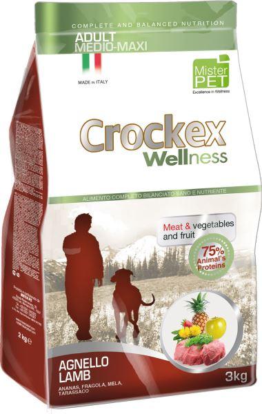 Корм сухой Crockex Wellness для собак средних и крупных пород, ягненок с рисом, 12 кг0120710Этот полноценный рацион, дополненный функциональными ингредиентами, поддержит здоровье собаки. Сердцевина ананаса и яблоко способствуют правильному функционированию пищеварительной системы, а клубника является натуральным антиоксидантом с антивозрастным эффектом и служит для борьбы со свободными радикалами. Одуванчик известен своими очищающими свойствами и оказывает благотворное воздействие на печень. Пребиотики FOS и MOS помогают модулировать кишечную флору, улучшая таким образом усвоение питательных веществ. Использование риса в качестве первого источника углеводов и свежего мяса ягненка (15%) обеспечивает высокую перевариваемость и отличную аппетитность рациона.Состав: обезвоженное мясо цыпленка (18%), рис (18%), кукуруза, свежее мясо ягненка (15%), обезвоженное мясо ягненка (12 %), кукурузная мука, цыплячий жир, очищенный от оболочки зеленый горошек, льняное семя (2%), высушенная мякоть свеклы, пивные дрожжи, обезвоженные морские водоросли (0,24%), хлорид натрия, экстракт дрожжей (MOS 0,16%), фруктоолигосахариды (FOS 0,1%), экстракт юкки (0,0265%), порошок из корней одуванчика (Taraxacum officinale W.) (0,02%), обезвоженное яблоко (Malus pumila) (0,02%), обезвоженная сердцевина ананаса (Ananas sativus L.) (0,02%), обезвоженная клубника (Fragaria x ananassa) (0,0006%).Добавки на 1 кг продукта - Пищевые добавки: Витамин A 17500 МЕ, Витамин D3 1200 МЕ, Витамин E 145 мг, E4 Сульфат меди пентагидрат47 мг, E1 Карбонат железа 76 мг, E5 Оксид марганца 92 мг, E6 Сульфат цинка моногидрат 192 мг, E2 Йодистый калий 4,6 мг, E8 Селенит натрия15,2 мг.Аналитический состав: Влага 8%, сырой протеин25%, сырые масла и жиры 15%, сырая зола 6,1%,сырые волокна 2,1%, кальций 1,25%, фосфор0,9%.
