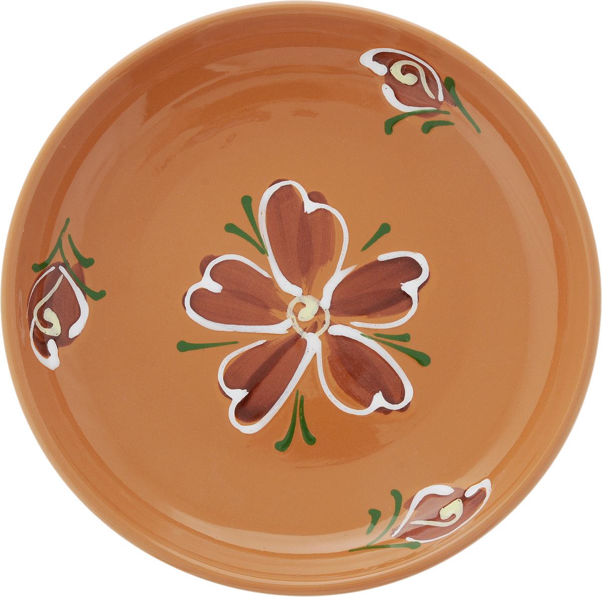 Тарелка Борисовская керамика Cтандарт. Цветок, цвет: светло-коричневый, диаметр 18 смVT-1520(SR)Тарелка Борисовская керамика Cтандарт выполнена из высококачественной керамики с покрытием пищевой глазурью. Изделие отлично подходит для подачи вторых блюд, сервировки нарезок, закусок, овощей и фруктов. Такая тарелка отлично подойдет для повседневного использования. Она прекрасно впишется в интерьер вашей кухни. Посуда термостойкая, можно использовать в духовке и в микроволновой печи. Диаметр тарелки (по верхнему краю): 18 см. Высота стенки: 3 см.